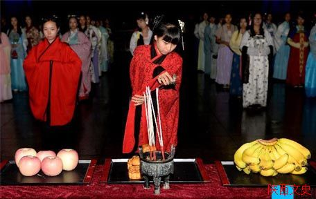 西安中秋祭月