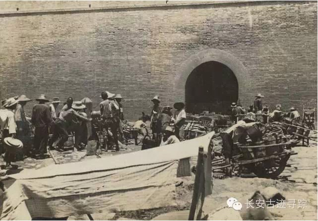 百年老照片中的西安城墙