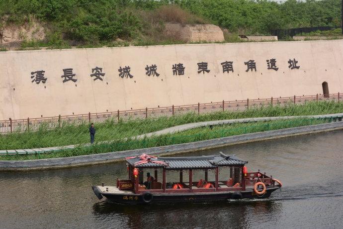 汉长安城遗址今昔对照图